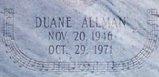 Duane's grave