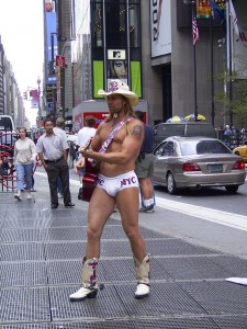 "The ""Naked Cowboy"""