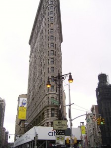 Flat Iron building - very flat!