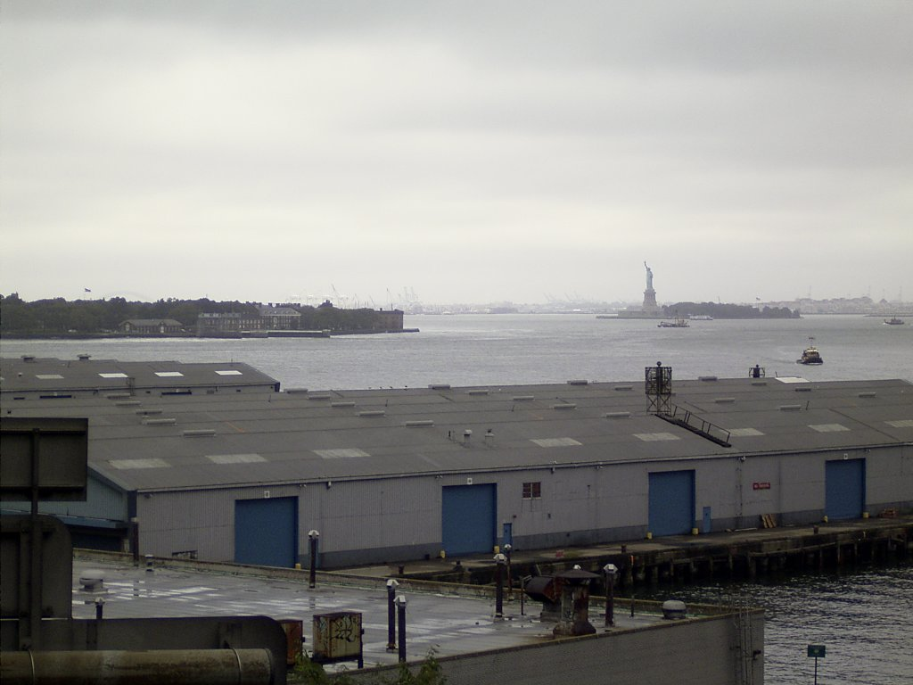 View from Brooklyn to Liberty Island